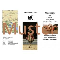 Gutschein Kamelreiten 1 Std. als Geeschenkbox